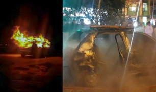 Chimbote: pasajeros se salvan de morir tras voraz incendio de auto en el que iban