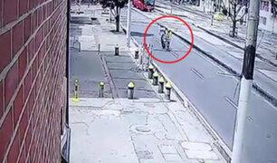 Colombia: motociclista falleció tras impactar con ciclista