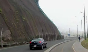 Costa Verde: tránsito vehicular se normaliza tras deslizamiento en bajada Sucre