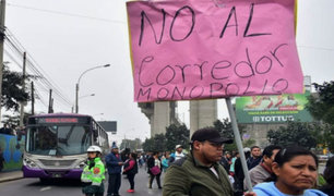 SJL: disturbios durante protesta contra Corredor Morado
