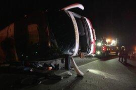 Al menos tres muertos dejó despiste de bus interprovincial en Huarmey