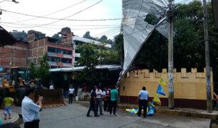 Chanchamayo: granizada, fuertes vientos y lluvia sorprendió a la población
