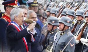Miembros de la Escuela Militar de Chorrillos participan en Parada Militar de Chile