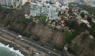 Acantilados en Costa Verde: proponen construir andenes para evitar deslizamientos