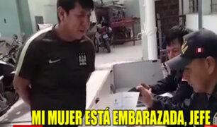 Chiclayo: hombre rompe en llanto tras ser atrapado robando