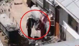 Huancayo: mujer es captada agrediendo a anciana de 80 años