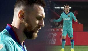 Barcelona con Messi caen 2-0 frente al Granada