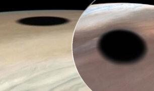 NASA se pronuncia por extraña mancha negra captada en Júpiter