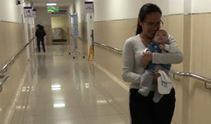 Hospital Almenara: extirpan tumor que ocupaba 90% del rostro de un bebé