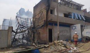 Carabayllo: incendio consumió vivienda en avenida Santo Domingo