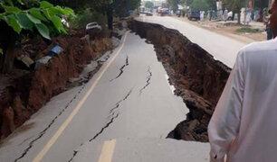 Impactantes imágenes: terremoto de 5,8 grados remeció Pakistán