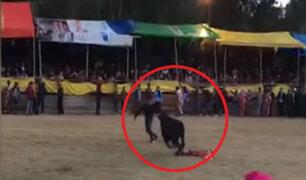 Junín: torero y aficionado fueron corneados en Huancayo