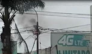 Callao: cortocircuito de cables aéreos alarmó a transeúntes