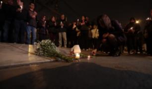 Surco: vecinos realizaron vigilia en memoria de mujer baleada por delincuentes