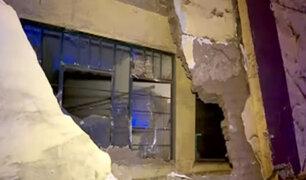 La Victoria: parte de este instituto quedó destruido tras choque de camión