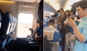 Pasajera abrió puerta de emergencia de un avión ''para que entre aire fresco''