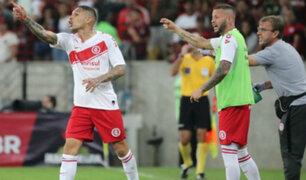 Internacional vs Flamengo: Guerrero se disculpó con sus compañeros tras expulsión