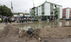 SJL: vecinos afectados por aniego denuncian abandono de autoridades