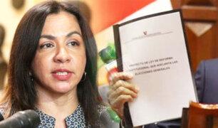 """Marisol Espinoza sobre archivo de adelanto de elecciones: """"No dejará un mal precedente"""""""