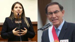 Yeni Vilcatoma presentó denuncia constitucional contra Martín Vizcarra