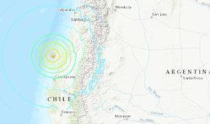 Chile: sismo de magnitud 6.7 sacude el centro y sur del país