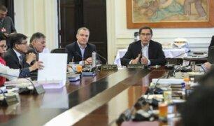 Consejo de Ministros se reunió en sesión extraordinaria en Palacio de Gobierno