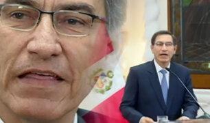Vizcarra habla tras la disolución del Congreso