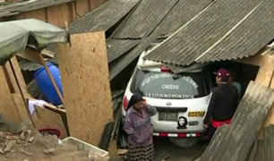 Chorrillos: conductor aparentemente ebrio estrella auto contra vivienda