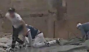 Surco: delincuentes intentan huir de la justicia por techos de viviendas