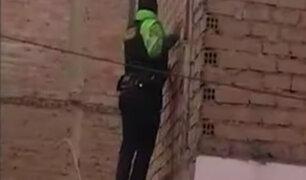Surco: policía cae de techo tras perseguir a ladrones