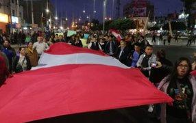 Diferentes manifestaciones se registraron a nivel nacional tras cierre del Congreso