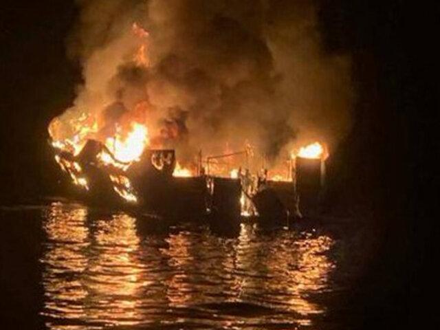 EEUU: más de 30 desaparecidos tras incendio de barco en California