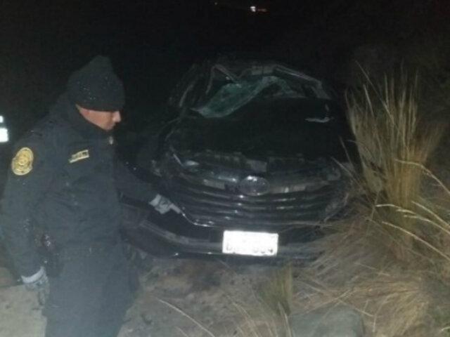 Junín: al menos tres muertos deja despiste de vehículo en Carretera Central