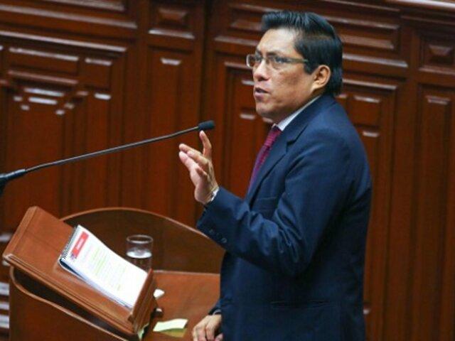 Congreso interpela a ministro Zeballos por fuga de sicario 'Goro'