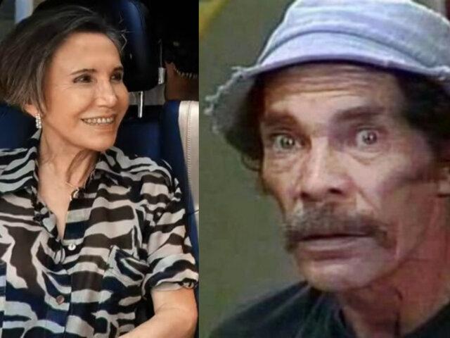 Florinda Meza aseguró que Ramón Valdés era adicto a las drogas