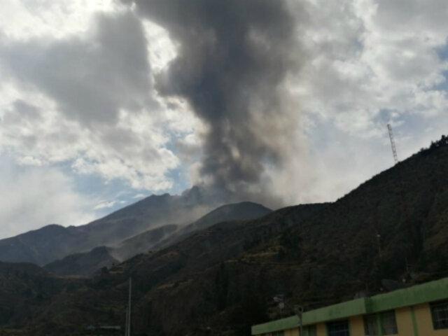 Volcán Ubinas: se registra nueva explosión y emisión de gases y cenizas