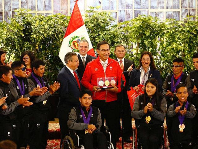 Palacio de Gobierno: medallistas parapanamericanos fueron condecorados