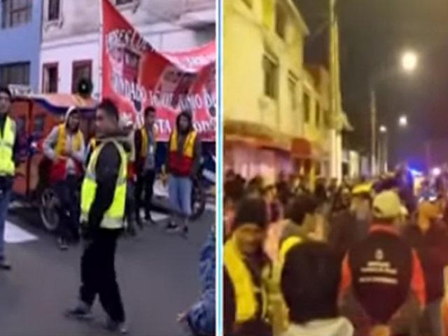 Callao: mototaxistas protestan por más fiscalización ya que informalidad los perjudica