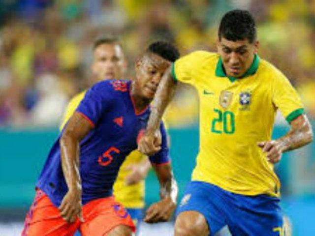 Un Brasil que no defrauda y una Colombia aguerrida empataron 2-2