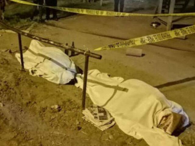 SMP: matan a balazos a dos personas en parque Santa Rosa