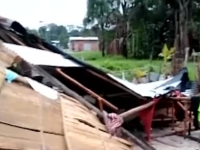 Iquitos: vientos huracanados destruyeron casas