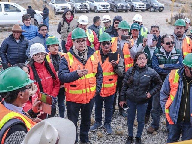 Ministros de Energía y Cultura visitaron área de influencia de proyecto minero Antapaccay