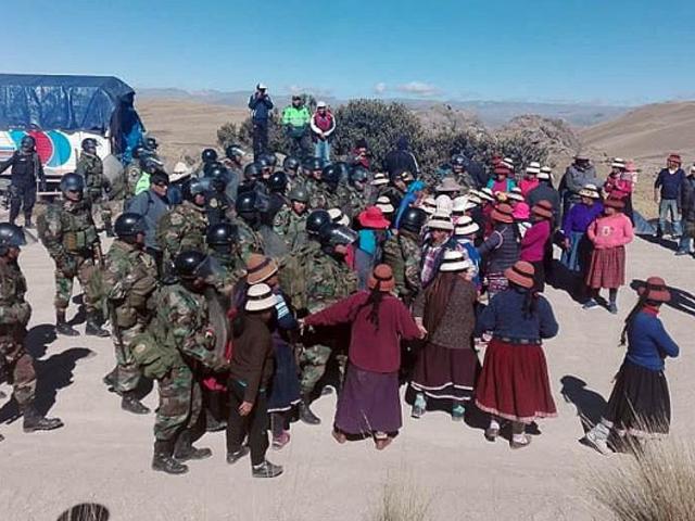 Enfrentamientos durante bloqueo minero en Apurímac deja al menos un herido