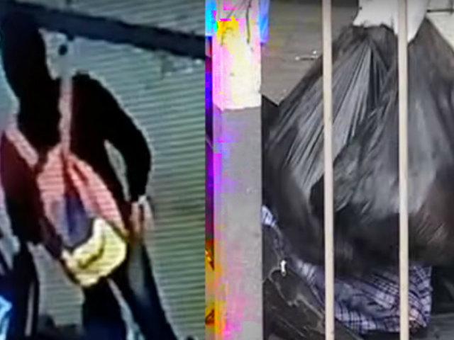 Cámaras de seguridad: seis personas ayudaron a cargar bolsas con restos en taxi