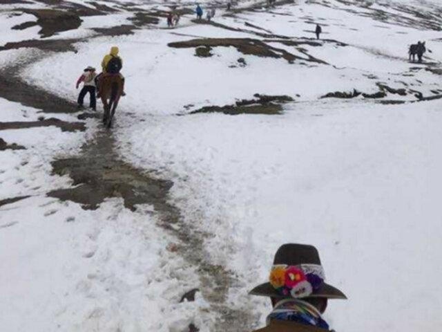 Senamhi advierte lluvias, nieve y granizada en la sierra sur desde mañana