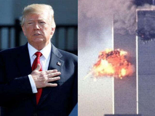 En homenaje al 11 de setiembre, Trump lanzó advertencias a terroristas