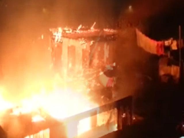 Quiso quemar a su pareja y provocó voraz incendio en Barrios Altos