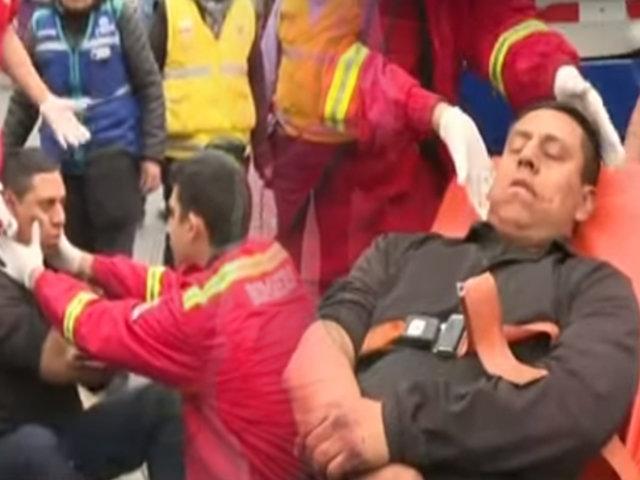Rímac: bus de Corredor Azul arrolla a inspector municipal