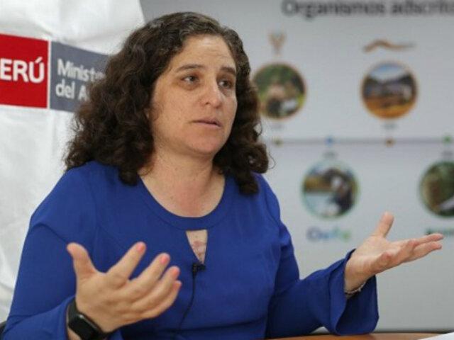 """Ministra del Ambiente plantea propuestas para trabajo conjunto con """"Bancada Verde"""""""