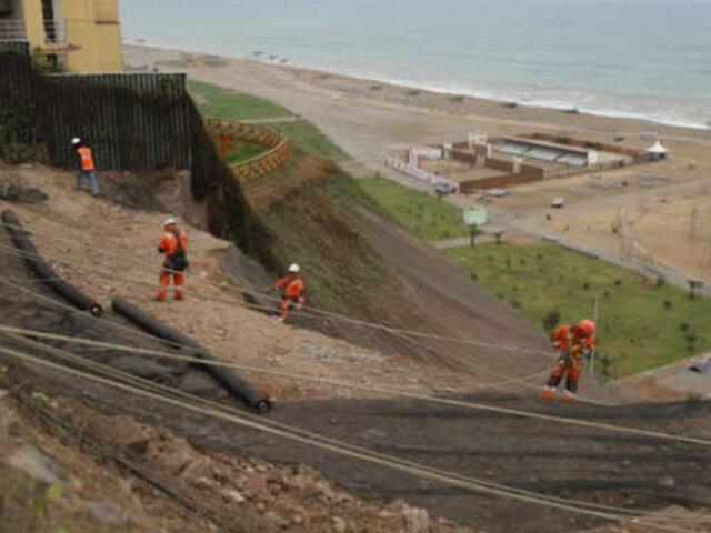 Costa Verde: Municipalidad de Lima instaló geomallas en malecón de Magdalena